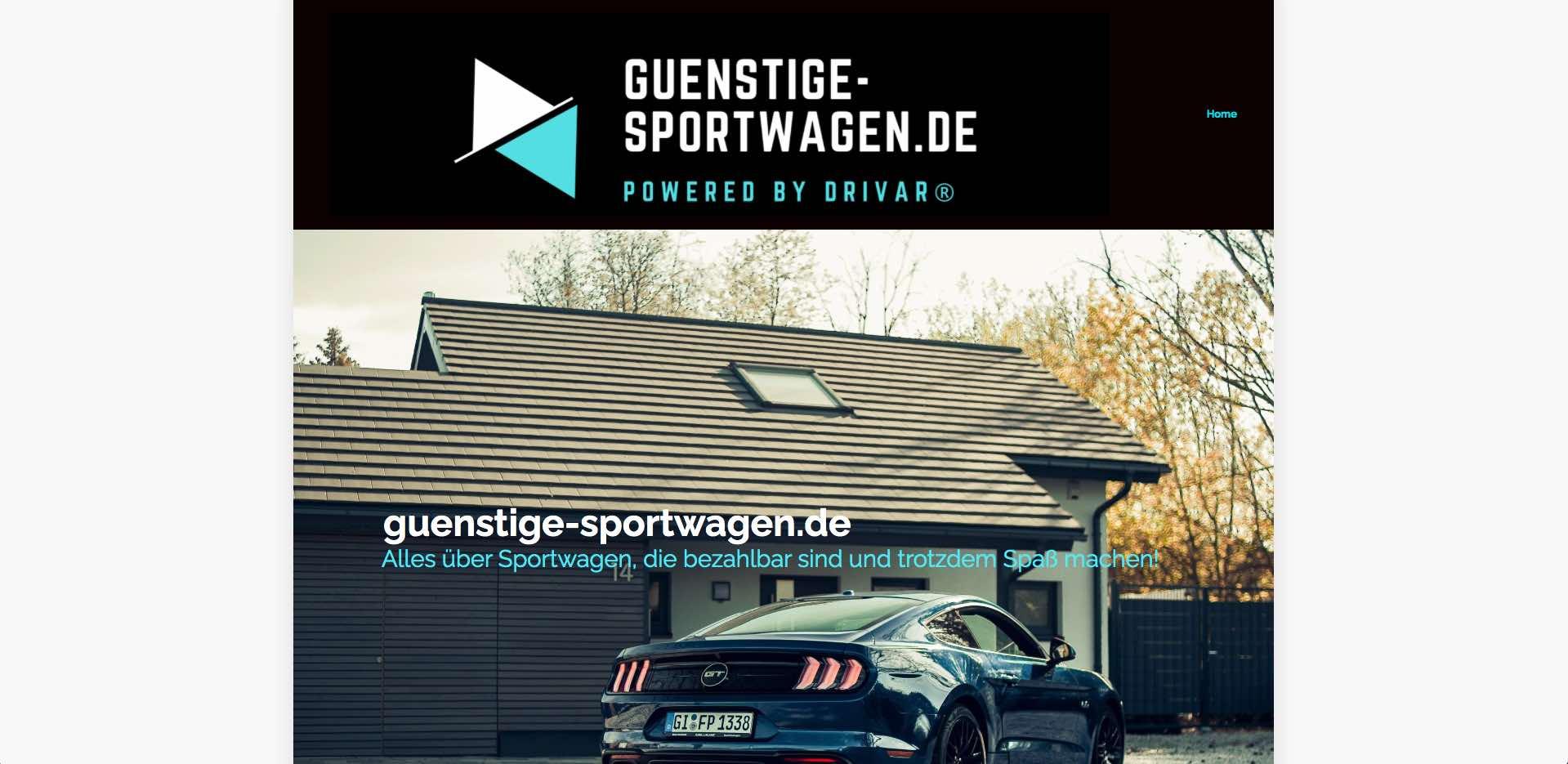 günstige sportwagen screenshot